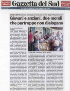 Articolo Gazzetta del Sud del 18.07.2012