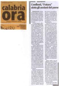 Articolo attività rivolte agli anziani Calabria ora del 20.05.2010