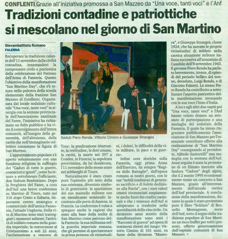 Gazzetta del Sud 14.11.2013 San Martino Day
