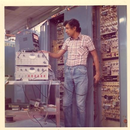 Sala OH Monte Mancuso, ricevitori base IMMZ di Monte Mancuso, Catanzaro, luglio 1974.